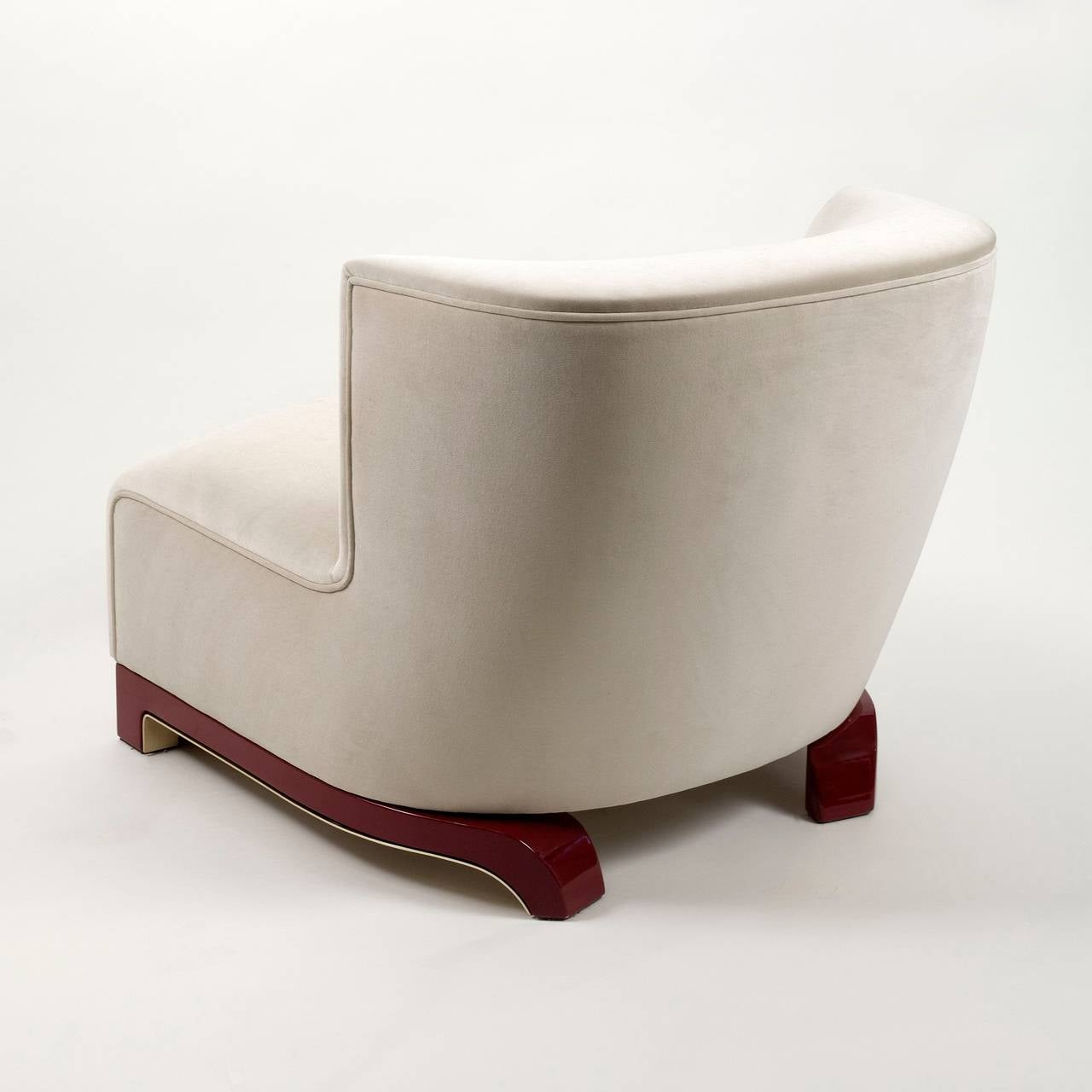 "Achille Salvagni, ""Vittoria"", Velvet and Lacquer Chair, Italy, 2014 2"