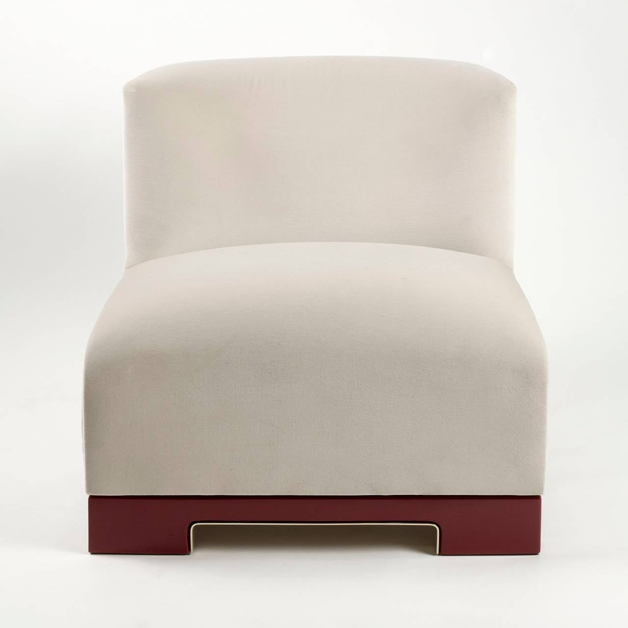 "Achille Salvagni, ""Vittoria"", Velvet and Lacquer Chair, Italy, 2014 4"