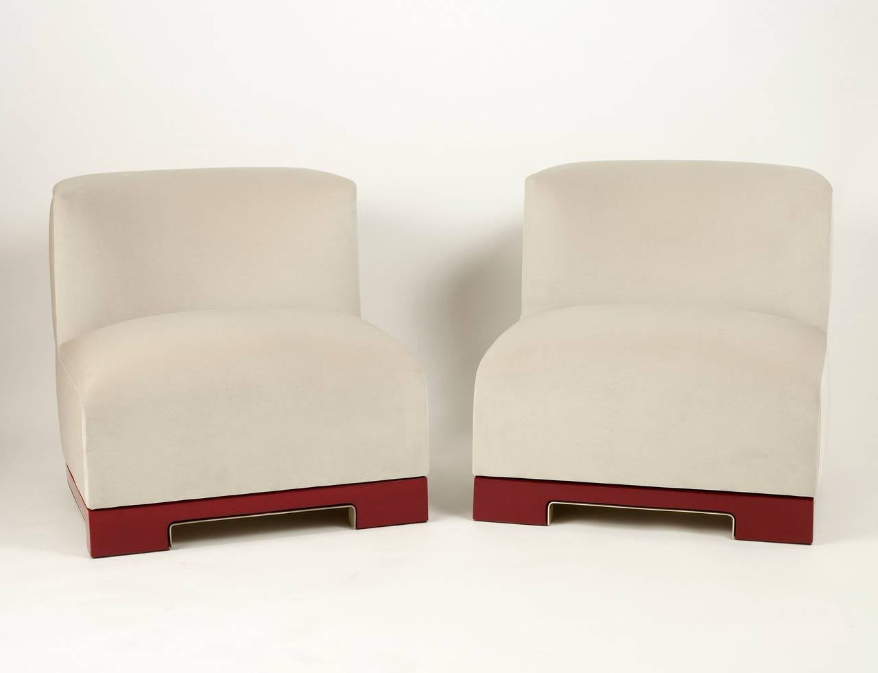 "Achille Salvagni, ""Vittoria"", Velvet and Lacquer Chair, Italy, 2014 5"