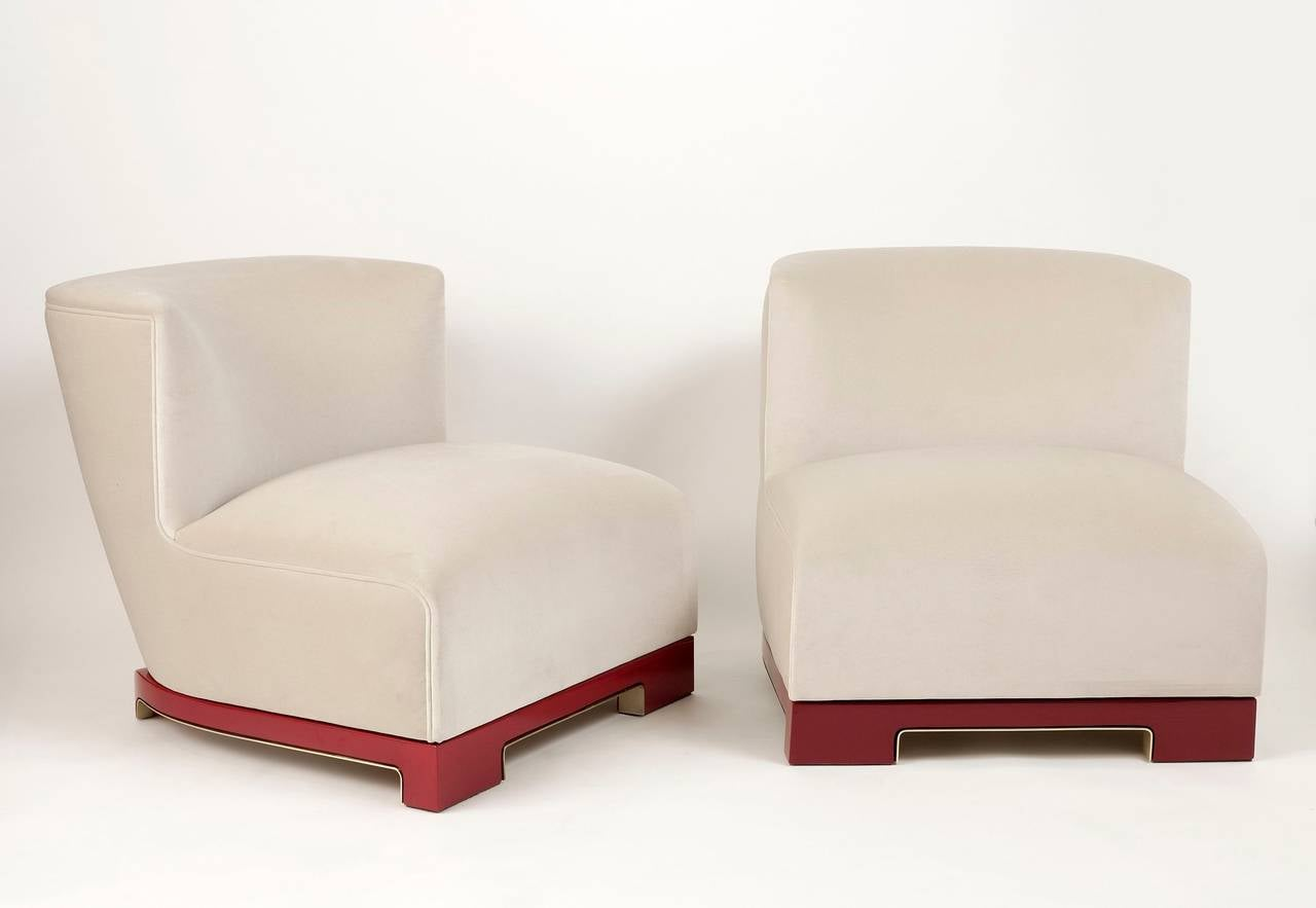 "Achille Salvagni, ""Vittoria"", Velvet and Lacquer Chair, Italy, 2014 6"