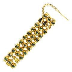 Le Petit Poucet gilt-bronze bracelet with enamel by Line Vautrin