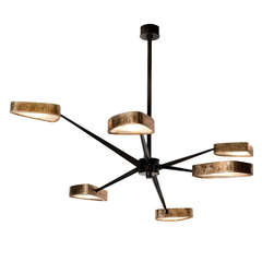 """Spider"" Bronze and Onyx Chandelier by Achille Salvagni"