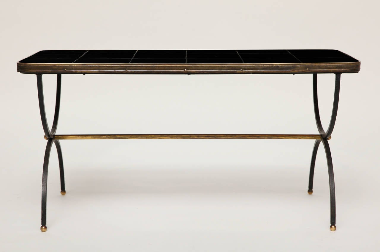 Rare Ceramic Tile Coffee Table By Jacques Adnet At 1stdibs