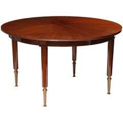 Jules Leleu, Extendable dining table, France, c. 1957
