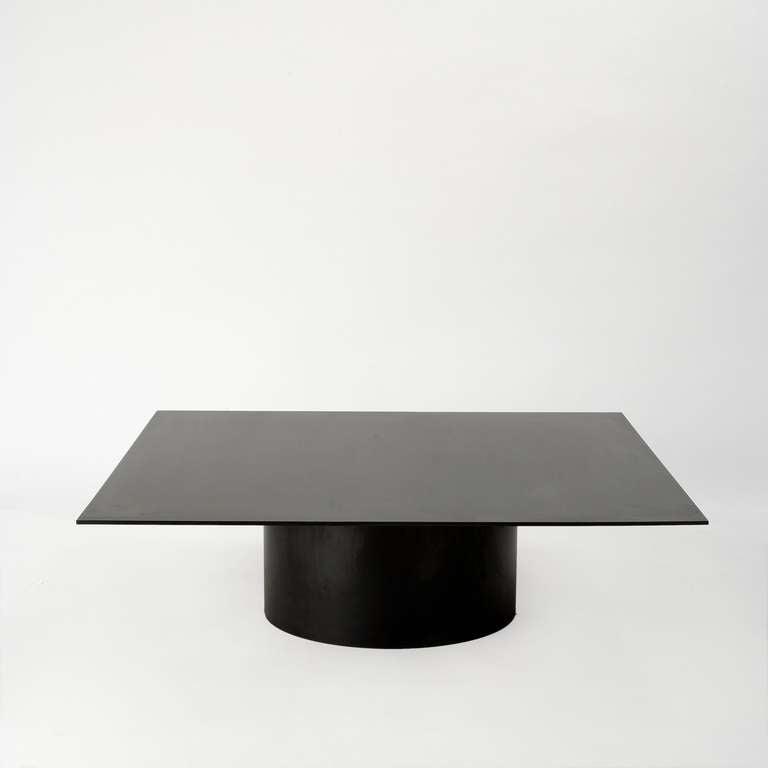 "Fabricated Steel Coffee Table: MR Architecture + Decor, ""MR.301"", Blackened Steel Coffee"
