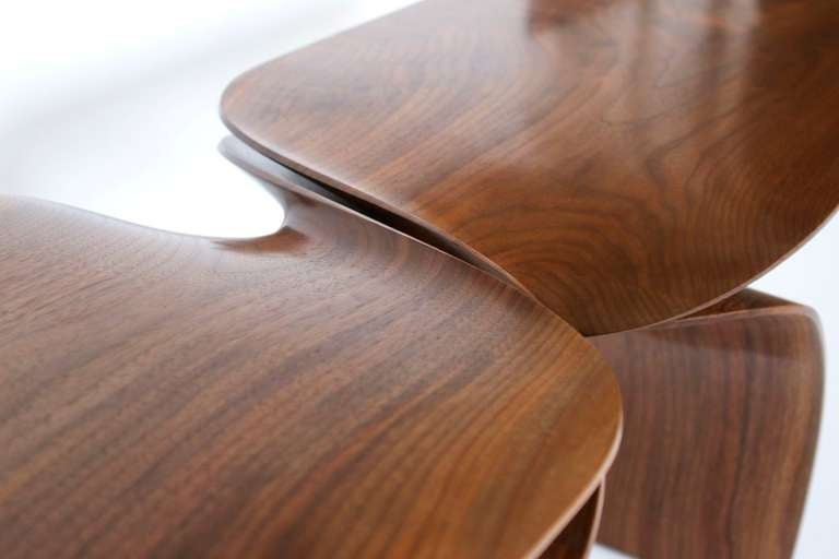 Sculptural hand carved walnut coffee table by carol egan at 1stdibs Hand carved coffee table