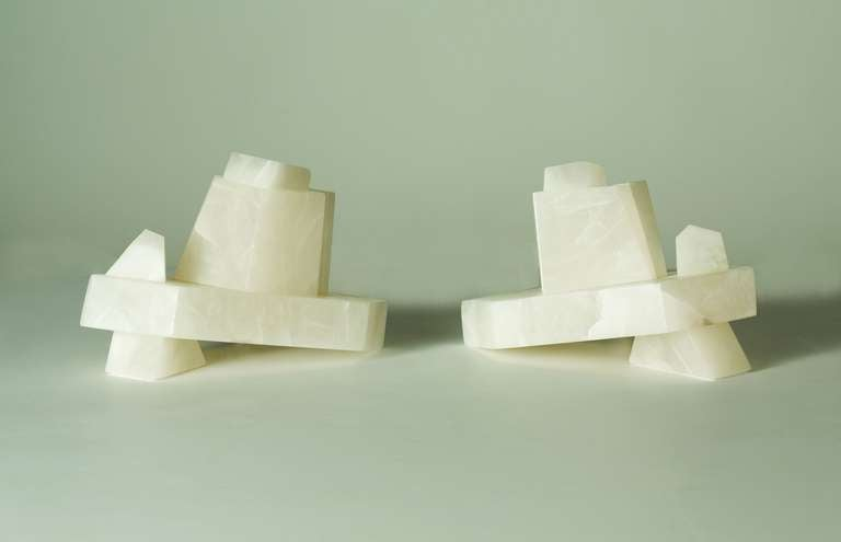 American Stephen Downes, Alabaster Table Lamp, USA, 2009 For Sale