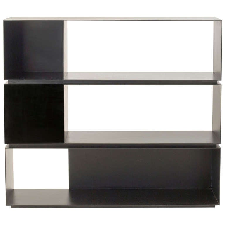 "MR Architecture + Decor, ""MR.3H"", blackened steel bookcase, USA, 2014"