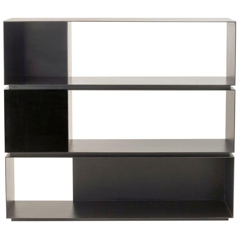 """MR Architecture + Decor, """"MR.3H"""", Blackened Steel Bookcase, USA, 2014 For Sale"""