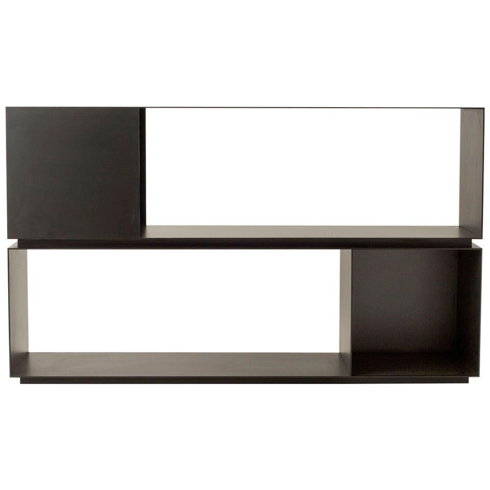 """MR Architecture + Decor, """"MR.2H"""", blackened steel bookcase, USA, 2014"""