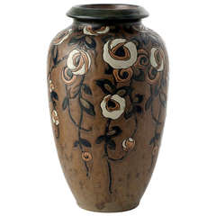 """Rosettes"" Fine Art Deco Vase by Charles Catteau"