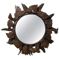 """Soleil"" Unique Handmade Mirror by Michel Salerno"