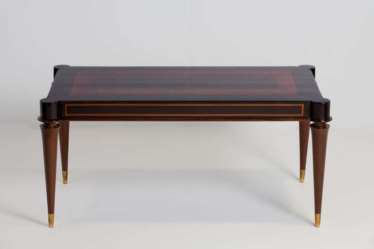 batistin spade, mahogany coffee table, france, c. 1940 for sale at