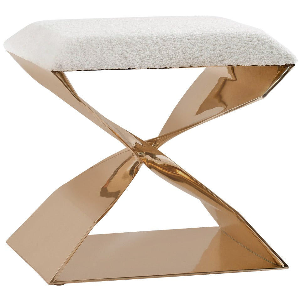 Carol Egan, Sculptural Bronze Stool, United States, 2014