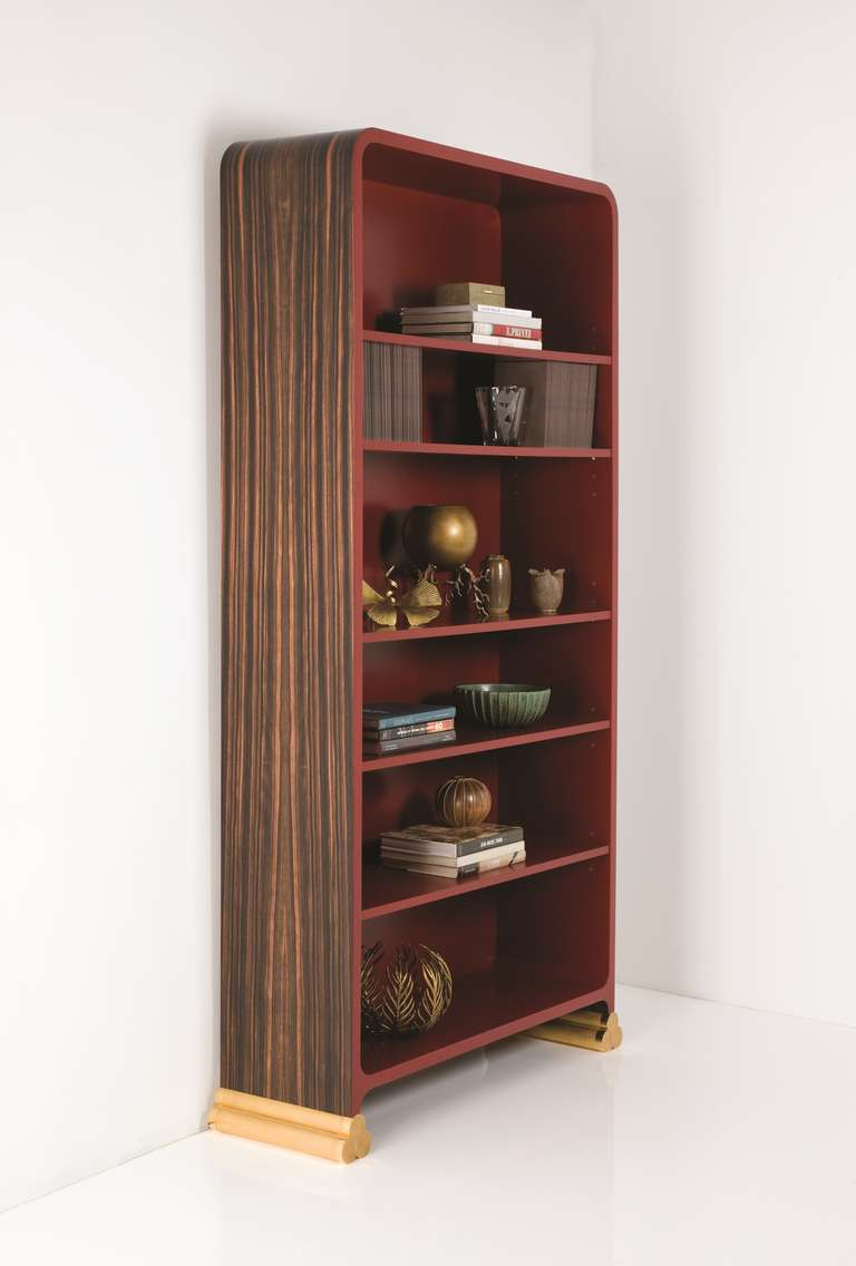 Macassar ebony and lacquer biblioth que by jean b renger de nattes at 1stdibs - Bibliotheque 9 cases ...