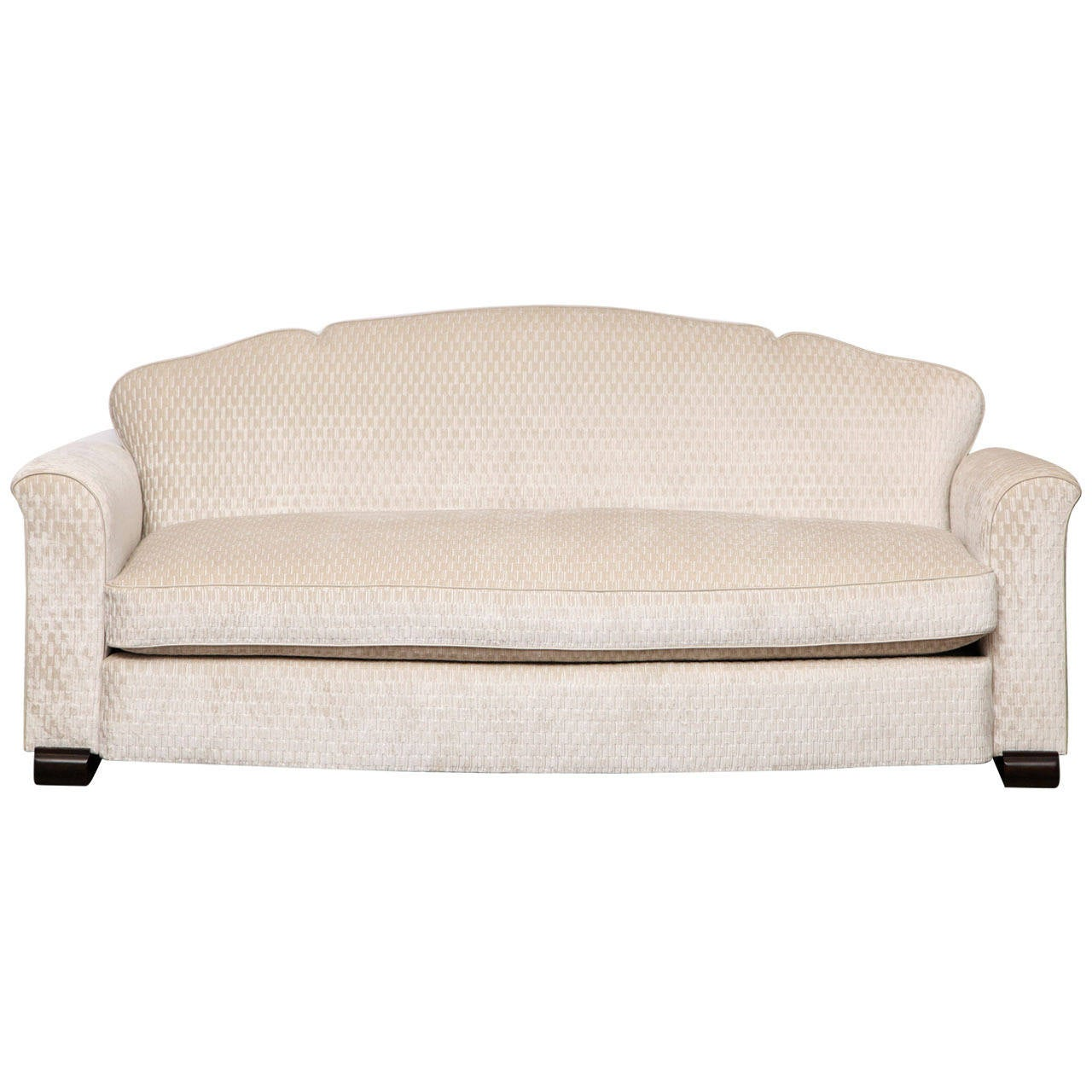 fine art deco sofa by jules leleu at 1stdibs. Black Bedroom Furniture Sets. Home Design Ideas