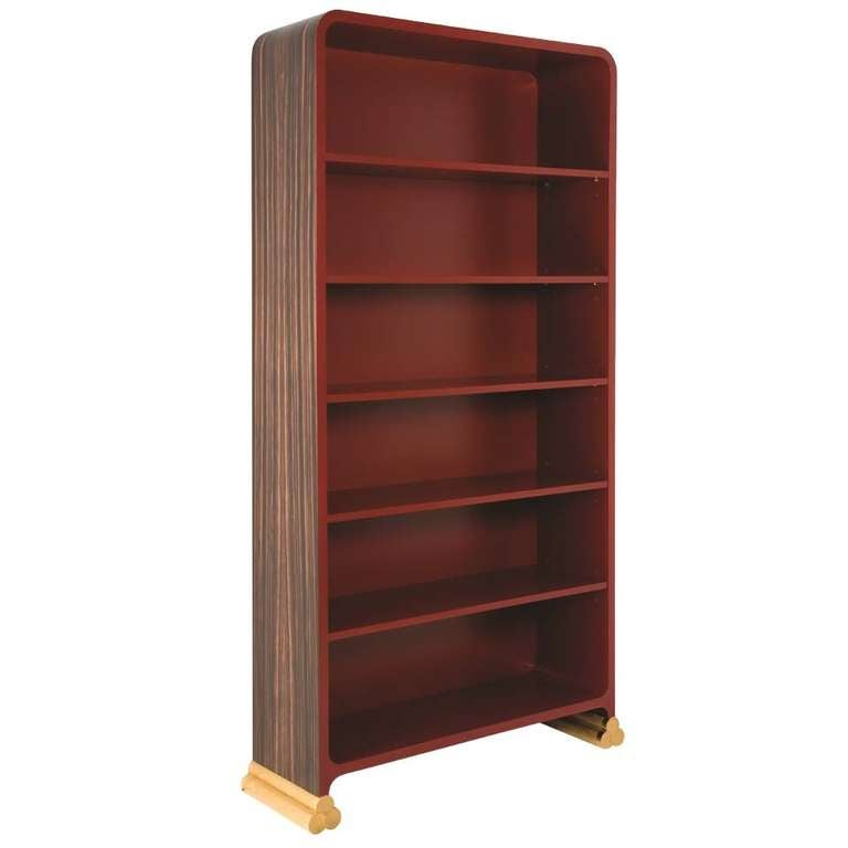 Jean B Renger De Nattes Macassar Ebony And Lacquer Bookcase France 2008 For Sale At 1stdibs