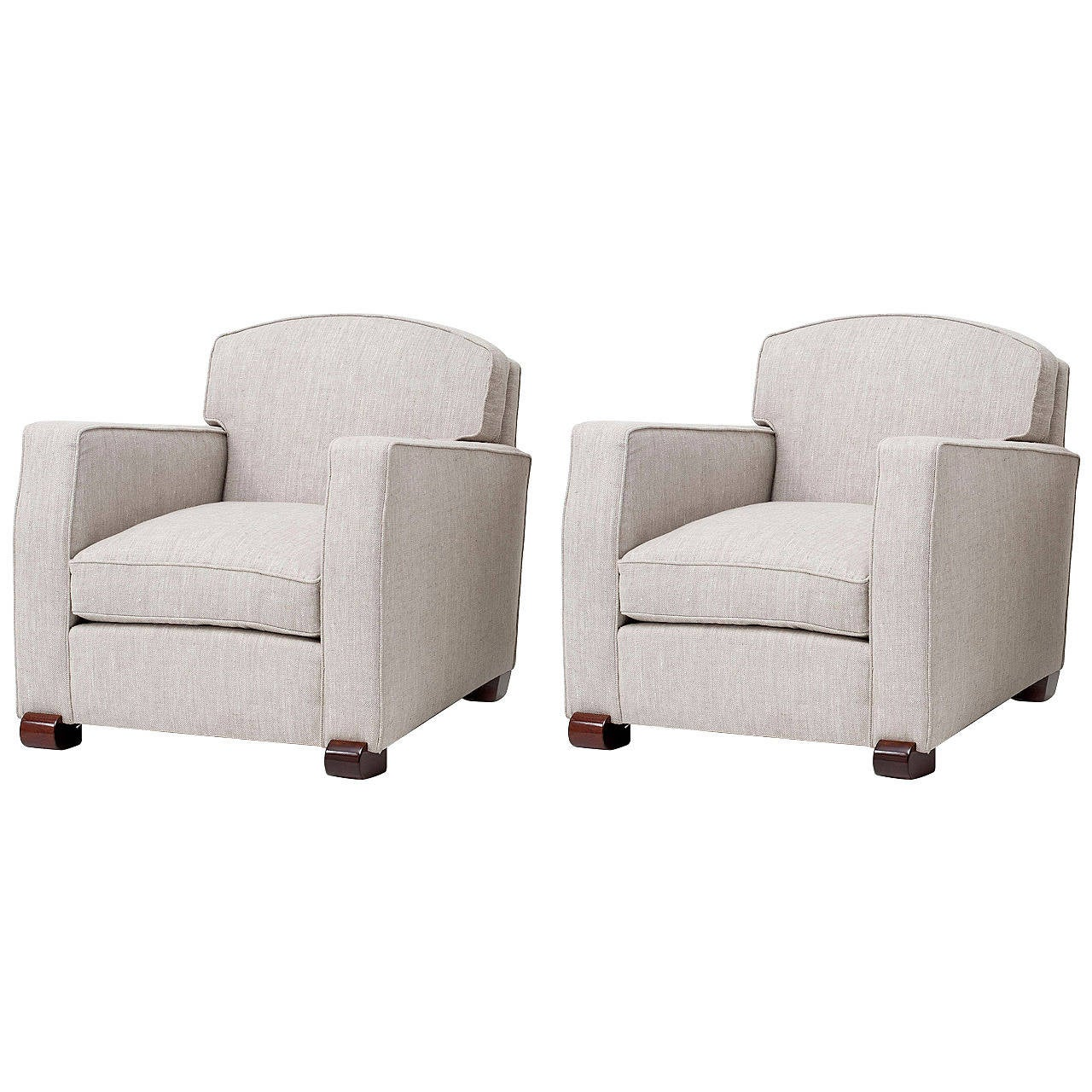 Maison Leleu, Pair of Club Chairs, France, C. 1946 For Sale