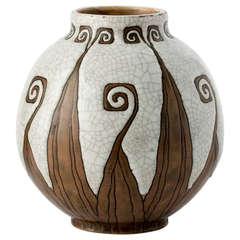 """Maïa"" Fine Art Deco Vase by Charles Catteau"