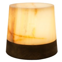 "Achille Salvagni, ""Drum"", Illuminated Onyx Side Table, Italy, 2013"