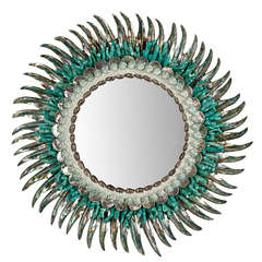 Contemporary Coquillage Mirror by Thomas Boog