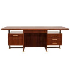 Maison Leleu Rare Desk with Extension, France, 1966