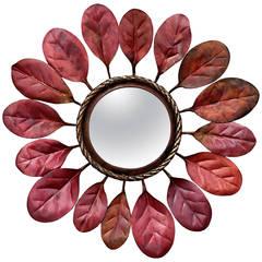 """Michel Salerno, """"Regarde"""", bronze and copper mirror, France, 2014"""