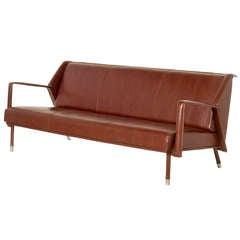 Jacques Quinet, Three seat sofa, France, c. 1960