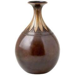 Danish 1930's Bronze Vase by Just Andersen