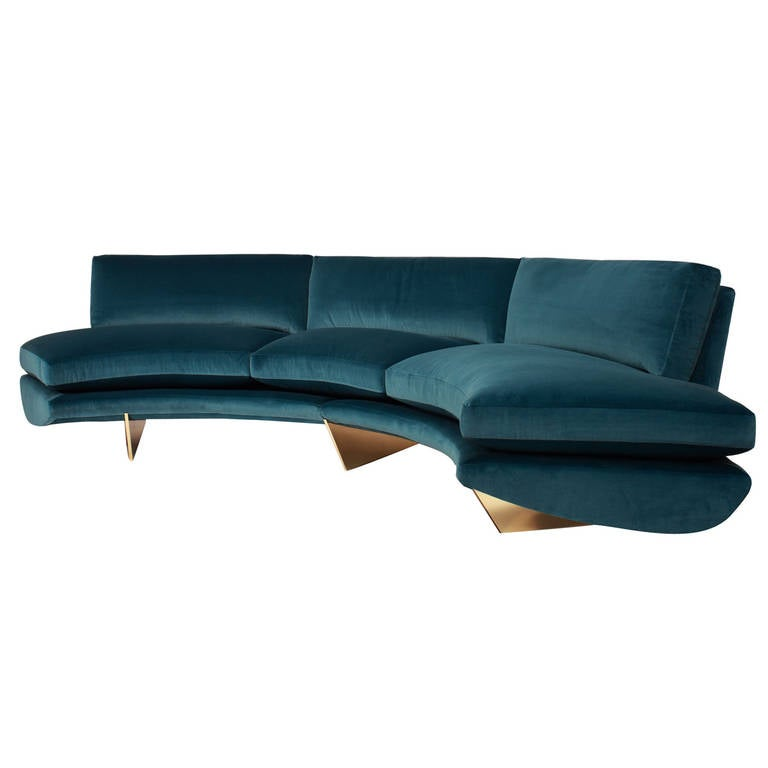 u0026quot whalebone u0026quot  sofa by william t  georgis at 1stdibs