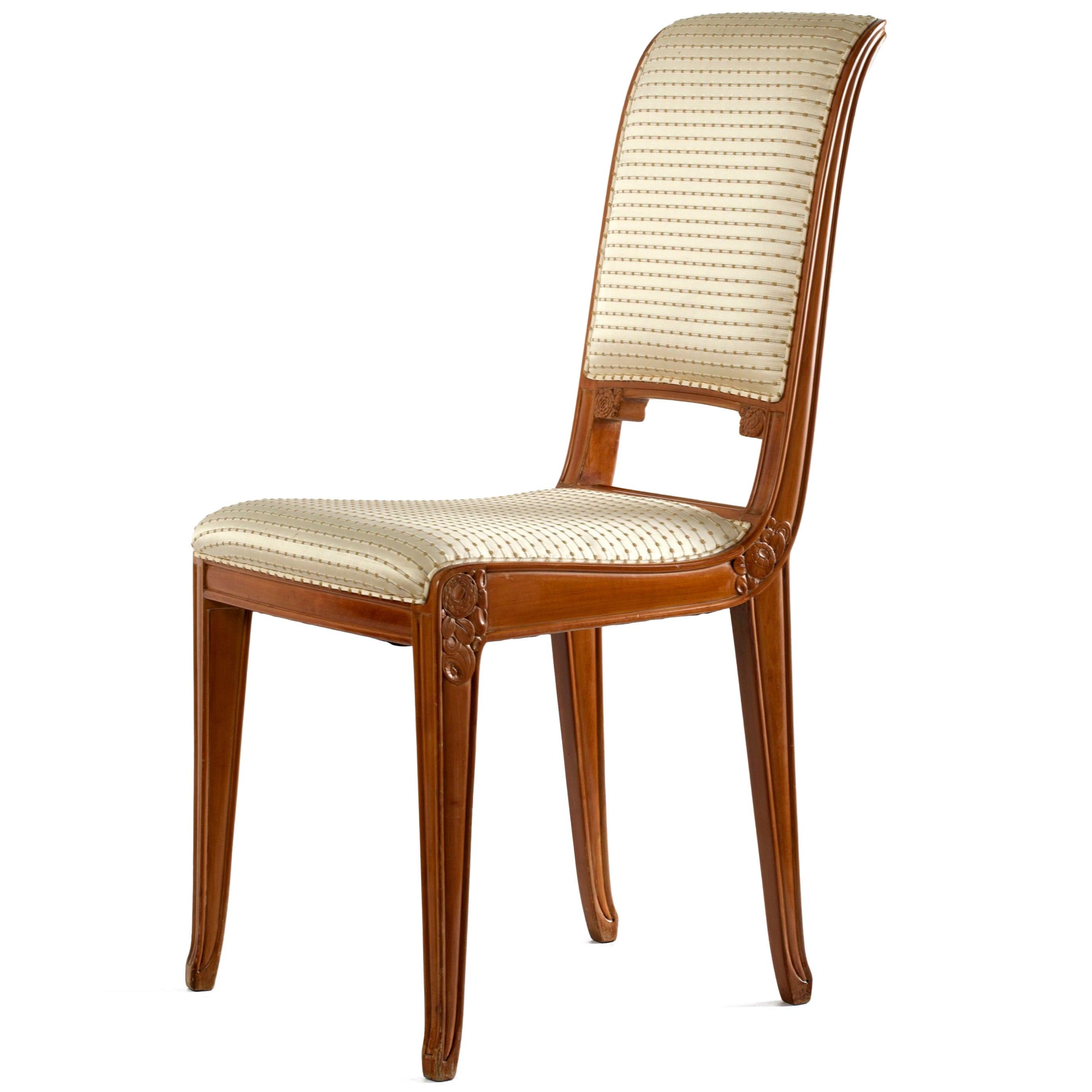 Léon Jallot, Early Art Deco Side chair, France, c. 1922