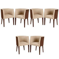 Set of Six Barrel Back Chairs