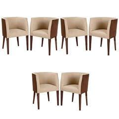 Set of Six Barrel Back Chairs