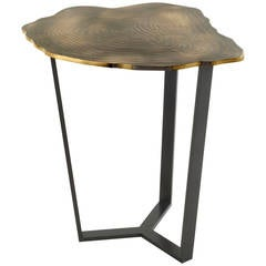 "Franck Chartrain, ""Narcisse"", Bronze and Steel Side Table, France, C. 2015"