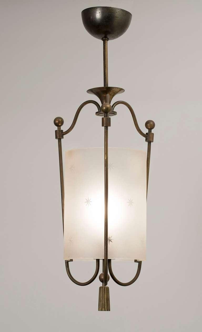 art deco hanging lantern at 1stdibs. Black Bedroom Furniture Sets. Home Design Ideas