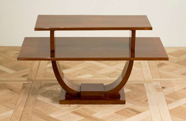 Jules Leleu, Mahogany Side Table, France, circa 1930 2