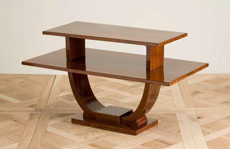 Jules Leleu, Mahogany Side Table, France, circa 1930 3