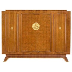 Jules Leleu, Walnut Cabinet, France, C. 1944