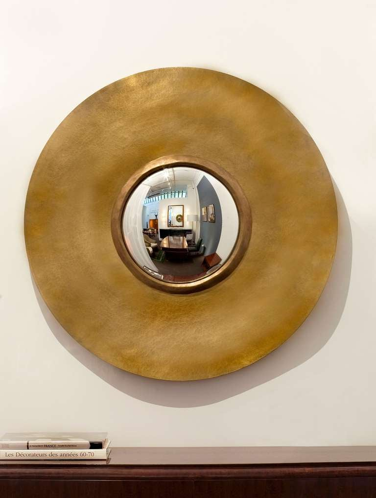 contemporary bronze bull 39 s eye mirror by herv van der straeten at 1stdibs. Black Bedroom Furniture Sets. Home Design Ideas