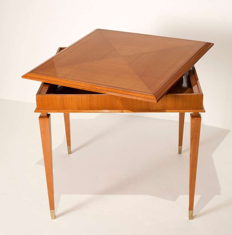 Art deco cherry wood game table at 1stdibs for 13 in 1 game table