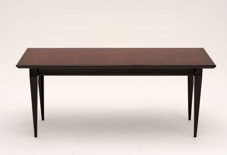 Bernard Dunand, Lacquered Coffee Table, France, C. 1940 In Good Condition For Sale In New York, NY