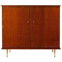 Fine Walnut Armoire / Cabinet by Jules Leleu
