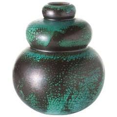 Primavera, Gourd Shaped Ceramic Vase, France, C. 1920