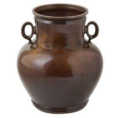 Rare Patinated Bronze Vase by Just Andersen