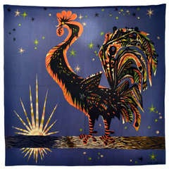 1950s French Tapestry Le Reveille Matin by Marc Saint Saens