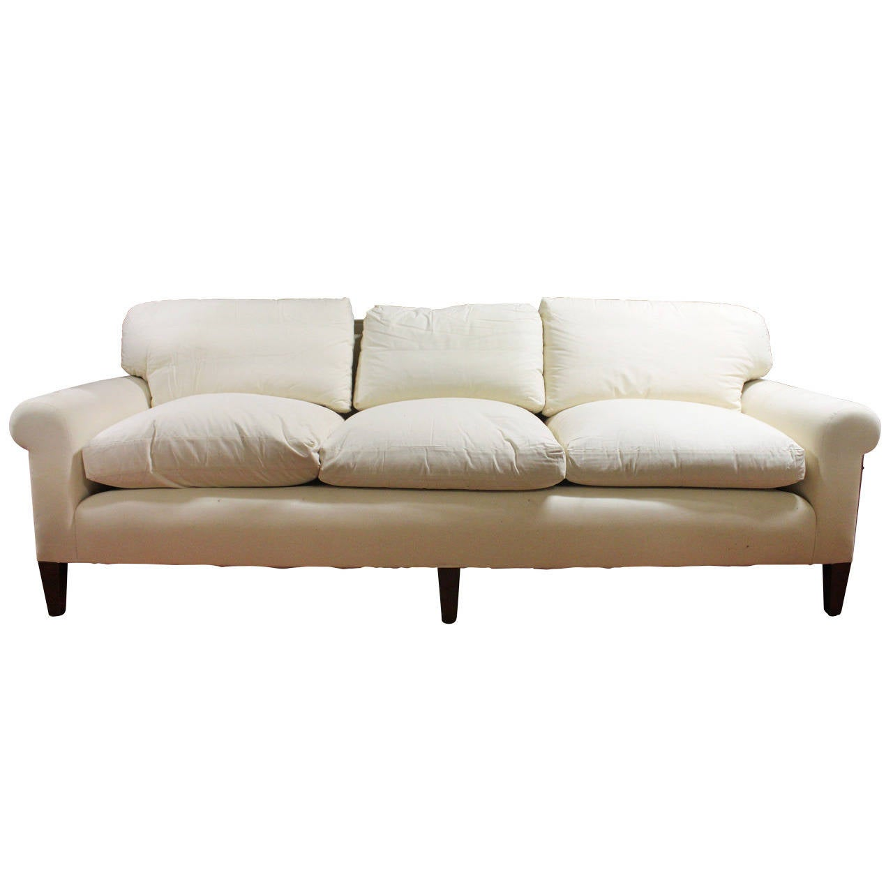 Elegant very comfortable fully refurbished sofa in muslin for Comfortable couches for sale