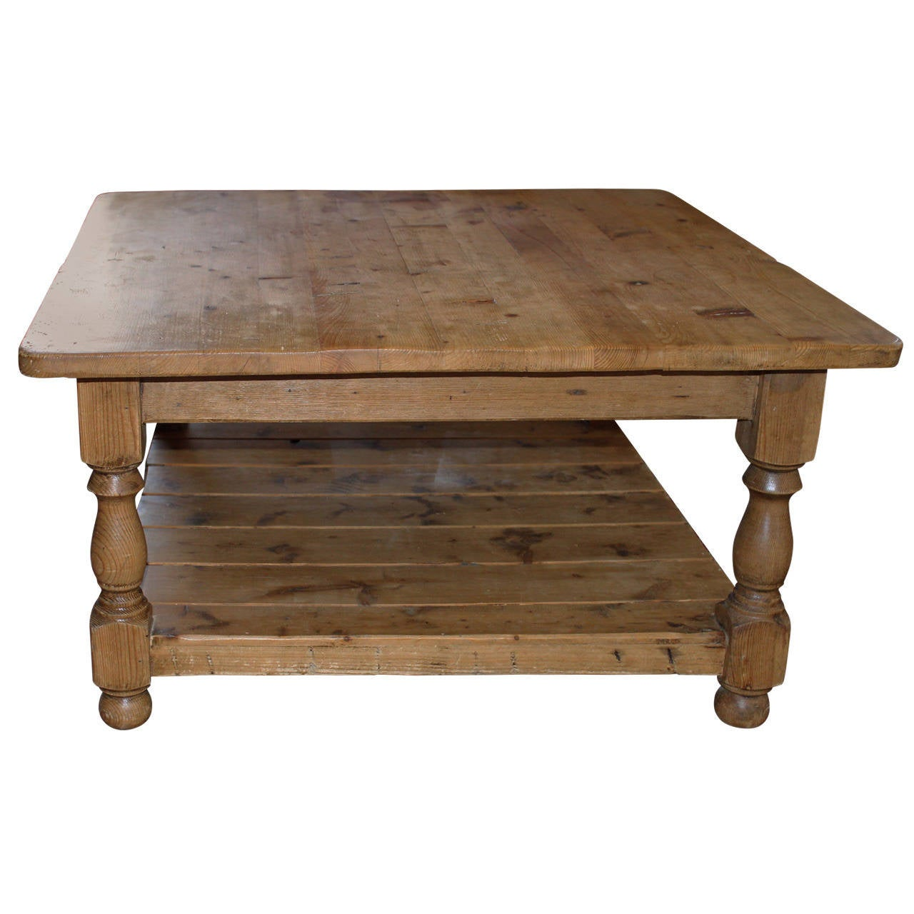 Vintage english pine coffee table at 1stdibs for Vintage coffee table