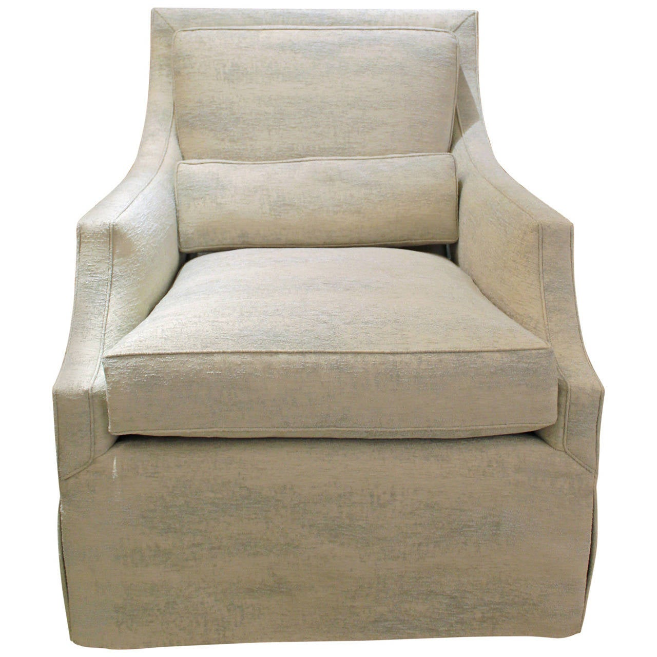 Elegant And Comfortable Club Chair Newly Reupholstered At