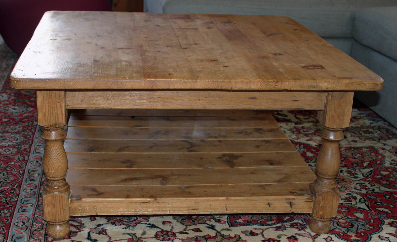 vintage english pine coffee table at 1stdibs