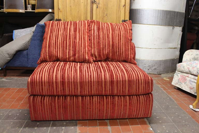 Luxurious and plush canape in a vibrant stripe for sale at for Canape online india